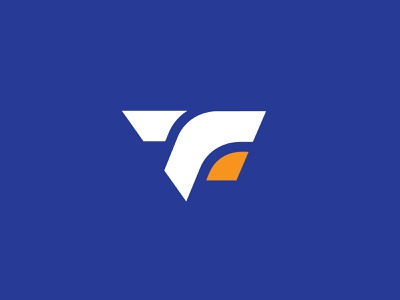TanFit Fun Logo brand identity eshop logo onlineshop logo app logo ftlogo tf logo e commerce logo facebook marketing logo flat logo modern logo blue orange fun logo fit logo start up logo gym logo sportslogo fitness logo branding logodesign
