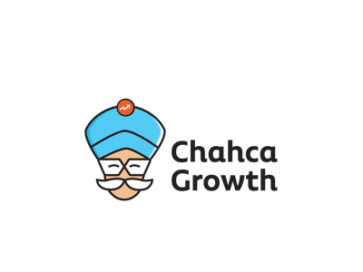 Chacha Growth Logo comics logo funny logo mustache logo magician logo oracle logo uncle logo charachter logo illustrative logo financial logo growth logo logodesign logo uncle chacha chowdhury chacha