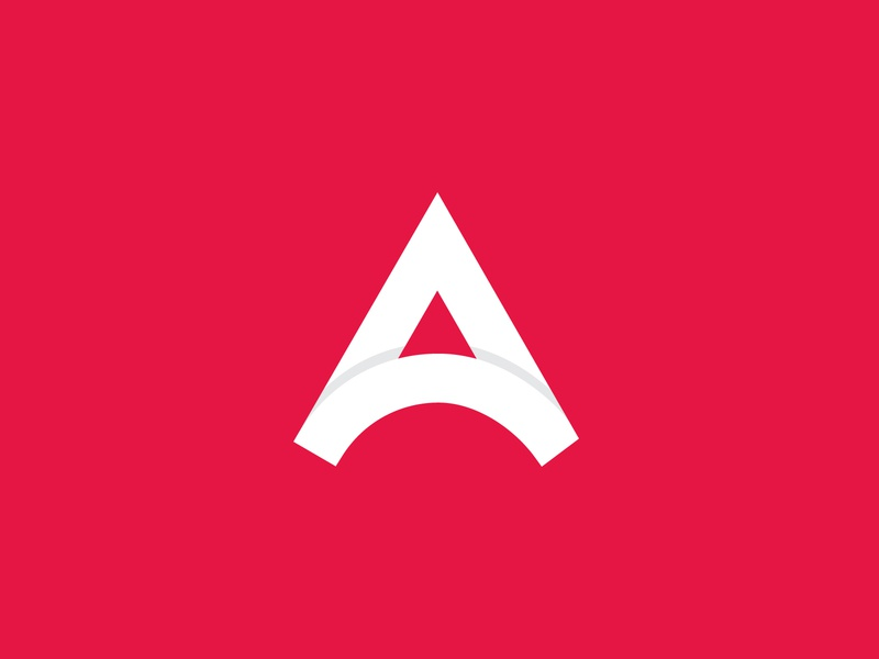 Atlas Logo tech logo saas app logo modern logo flat logo blue red a letter logo a logo app logo financial app logo fintechlogo logo atlas