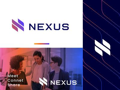 Nexus Logo modern logos letterbase loto top logo designer iconic logo n logo gradient logo gradient design gradient blue tech logo flat logo app logo modern logo branding agency brand identity logodesign logo branding