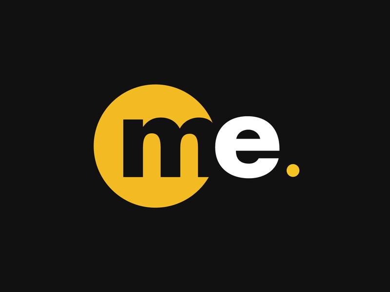 Me logo brand identity branding juornalism logo blogger logo blog logo youthful logo media logo black yellow flat logo e logo m logo circle logo best logo design best logo designer 2020 logodesign logo me logo