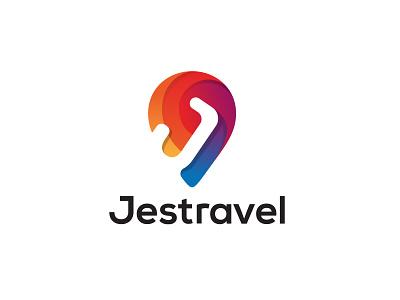 Jsetravel Logo brand designer branding agency brand identity branding travel app travel agency tour app logo icon modern logo 3d logo gradient logo baloon logo tourism logo location logo location icon logo j logo travel jet