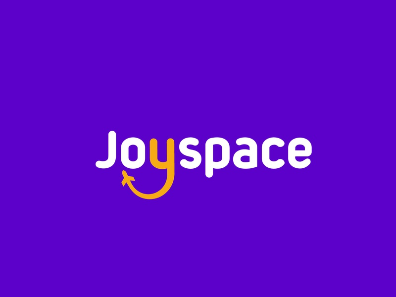 Joyspace logo logotype branding agency flat logo modern logo brand identity design branding icon app logo tour app logo space logo happy logo youthful logo joy logo j logo y logo aeroplane logo tourism logo travel app logo travel logo