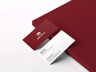 Metrix Business Card brand design best brand identity designer top logo designer dribbble best logo designer in dribbble import expert company branding logistic company branding qurier branding m logo brand applications branding designer brand identity design branding business card design businesscard