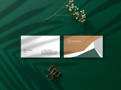 Decbase Business Card resturant interior design resturant branding db logo logodesign logo interior branding branding designer graphic designer brand identity design brand elements branding