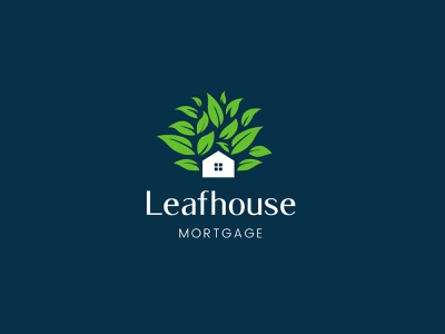 Leafhouse Mortgage green environmental home logo nature logo modern logo branding agency brand identity branding property logo house loan logo home leaf logo leaf logo logodesign house logo home logo real estate logo mortgage logo