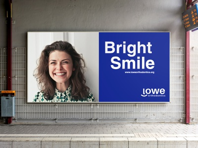 Lowe Orthodontics Sign Design dental logo brand identity design top logo designer logo designer branding agency best logos 2020 logo design inspiration 2020 clever logo modern logo flat logo blue white logo smile logo logodesign branding road side banner banner road side sign sign