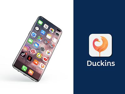 Duckins App logo modernlogo illustration icon logo logodesign logotype branding branding agency tech logo animal logo modern logo app logo duck logo