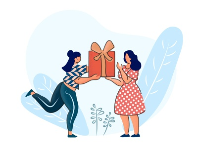 Gifting Series Illustration happy illustration giftbox illustration valentines gifting illustration personal gifting corporate gifting present illustration modern illustration flat illustration illustration gifting illustration