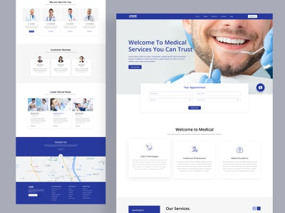 Lowe Orthodontics Website Concept uiux medical website interaction design uidesign website designer dental care website orthodontics website dentist website dental website design website design brand identity design blue logo branding agency brand identity logodesign branding