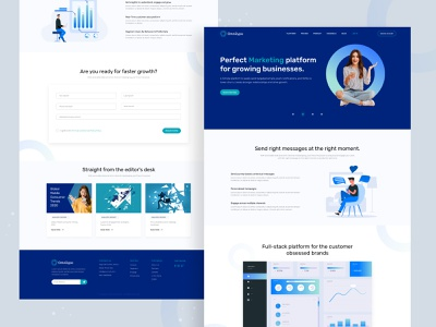 Omnilypo Landing Page design- Web design web design agency ui designer clean website design blue white website fintech website marketing platform website hedge fund website modern website design landing page design ui design website design