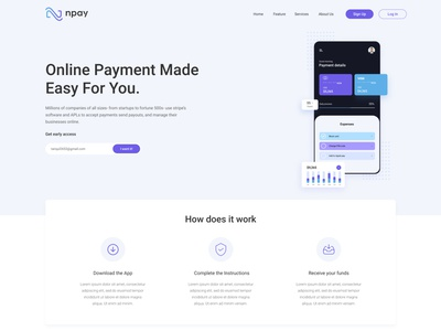 Npay Website landing page Design braniding agency fintech branding minimal website design clean website design tech website design fintech website design payment method website design payment system website design ux design ui design one pager design website design landing page design landingpage