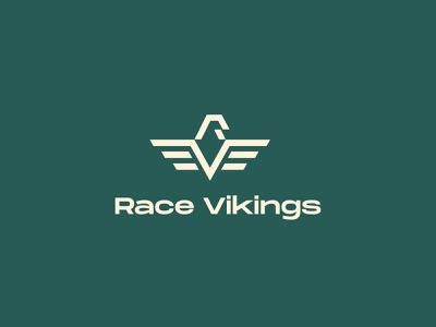 Race Vikings logo bicycle brand logo logo design services logo design inspiration cycle brand logo identity design brand identity design branding logodesign lifestyle bicycle brand logo lifestyle logo bicycle company logo cycle logo rv logo vr logo racing logo viking logo r logo