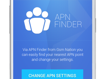 App Home Screen app android home screen blue apn finder