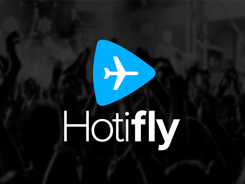 Hotifly Logo Concept hotifly logo startup concept hotel flight concert