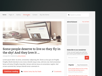 Magazine Theme [WIP] magazine blog theme wip simple article