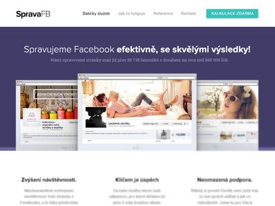 Social Media WIP social media presentation website simple purple white