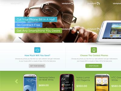 GsmNation HP mobile green blue save phone