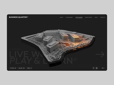 BUSINESS Q architecture 3d animation flat website ux ui grid graphicdesign web minimal design