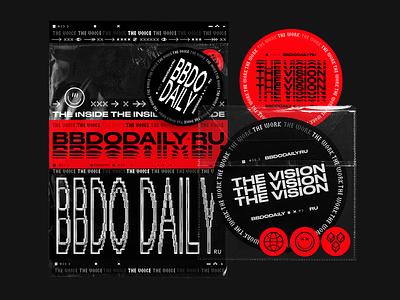 BBDO Daily unpacking icons minimal graphicdesign web stickers typography design illustration logo