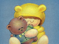 Colored Pencil: A Teddy Hug Kind of Day