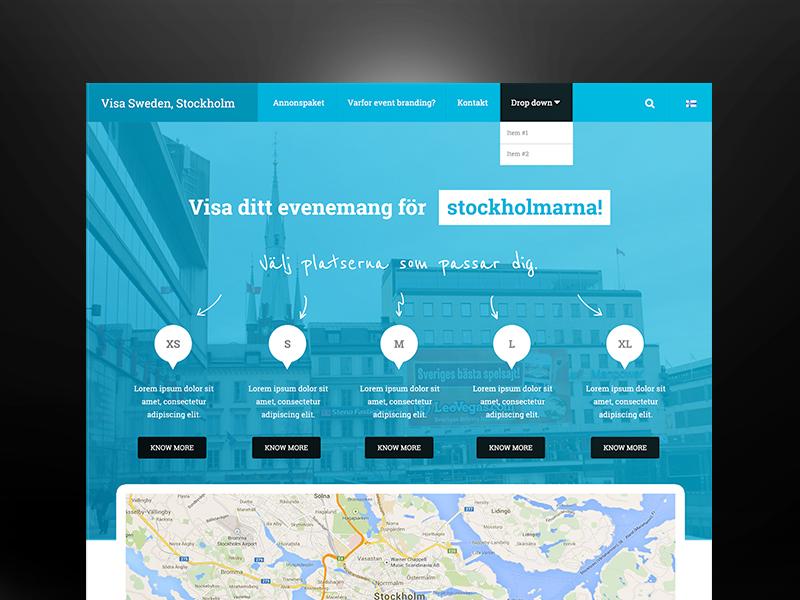Freebie PSD: Nordic Website Concept psddd sweden web design blue webdesign mit psd freebie free