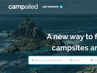 Landing page for campsited (WIP)