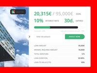 Investment card for the Lenndy crowd-funding platform v1