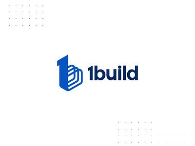 1build Brand Identity 1b b ux ui 1 one rebar visual identity branding blue design graphic builders build construction logo design logo