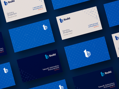 1build Brand Identity builders behance build 1 one building construction blueprint blue business cards visual identity brand identity branding