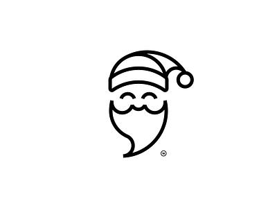 Santa illustration logotype line symbol flat design branding santa clause santa claus line art minimalistic christmas goldenratio golden ratio icon logo santa