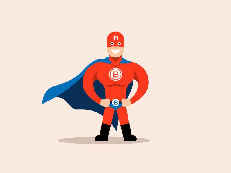 Boilerman plumber watter blue red character illustration super hero superhero hero boilerman boiler b