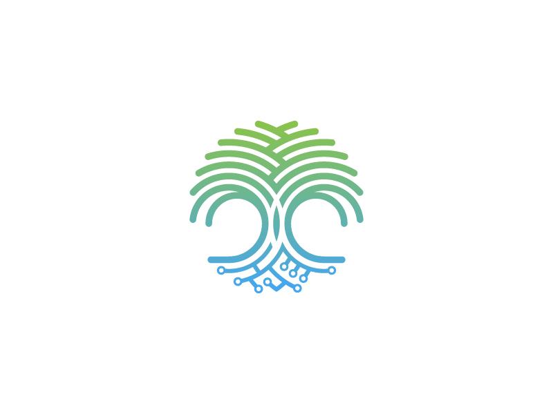 ThriveGround Logo seo growth growing business thrive technology digital tree logo