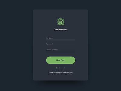 Mibs Register UI minimal dark user interface ui screen regiser app family safe mibs login