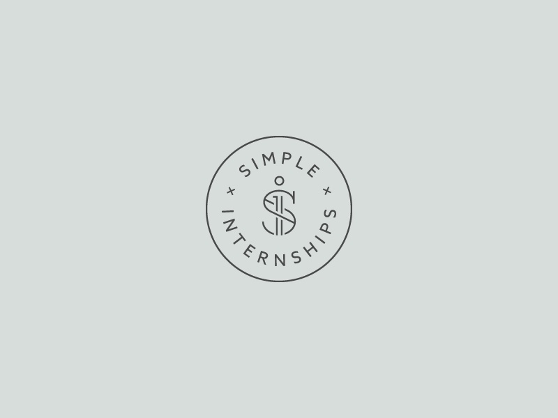 Simple. Internships. logo mark s si stamp internship minimal line simple