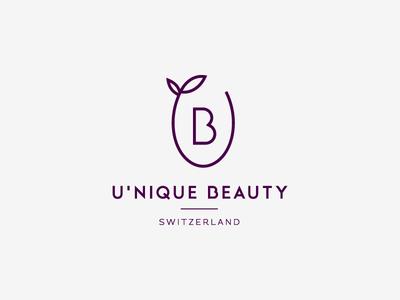 Unique Beauty v1 monoline ub graphic logo swiss elegant minimalistic unique cosmetics beauty
