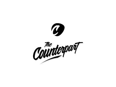 Counterpart Logo wordmark calligraphy c counterpart black handwritten lettering graphic typography logo
