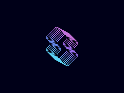 S Logo soft icon symbol simple modern tech line sale gradient logo s