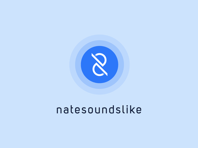 Nate Sounds Like minimal pulse producer music blue logo n8 n eight 8 sound nate