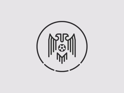 Serbia FA concept redesign monoline eagles crest design football soccer outline line art amblem logo line minimal two headed eagle serbia