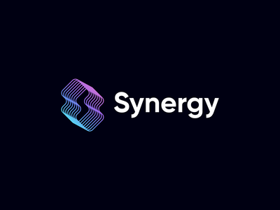 Synergy Event Portal norway app event app event synergy tech soft simple modern s branding lines icon gradient logo