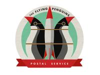 Flying Penguins Postal Service Logo