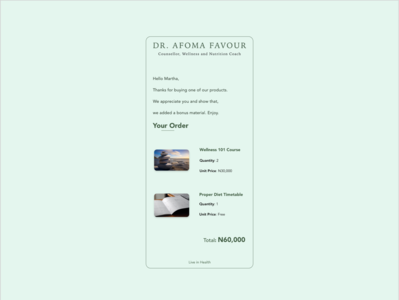 Daily UI 017 (Email Receipt)
