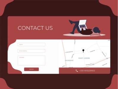 Daily UI 028 (Contact Page) contact page ux ui dailyui