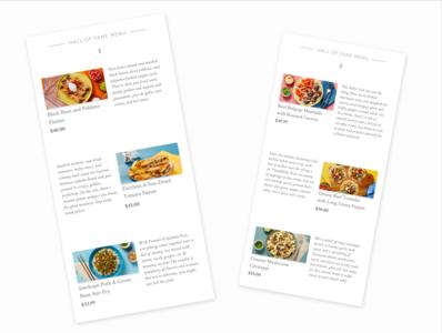 Daily UI 043 (Food Menu) food menu food menu ux ui dailyui