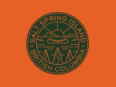 Folk Stock & Trade - Salt Spring Island monoline water pnw canoe nature outdoors salt spring island badge branding vector logo caribou creative laura prpich