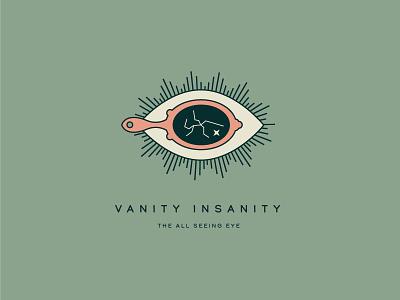 Vanity Insanity vancouver island caribou creative laura prpich cracked mirror mirror all seeing eye eye monoline minimal branding logo