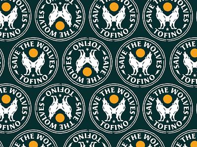 Save The Wolves wolves pnw badge illustration branding vector logo caribou creative laura prpich