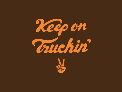 Keep On Truckin' handlettering lettering illustration branding vector logo caribou creative laura prpich