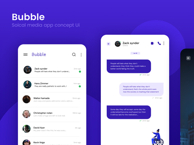 Bubble chat application design mobile restaurant food app daily ui dailyui productdesign brand design designer chatbot chat app mobile app mobile design ux ux design modern design modernism branding